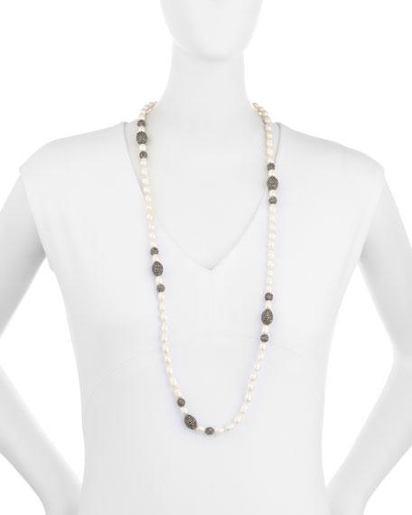 Shell Pearl & Hematite Singe-Strand Necklace