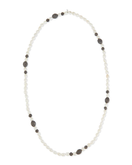 Shell Pearl & Hematite Singe-Strand Necklace
