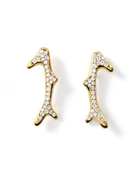 18K Glamazon Pavé Diamond Reef Earrings