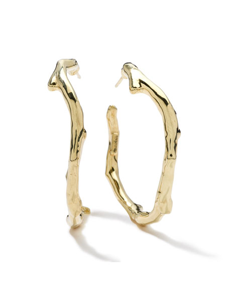 Ippolita 18K Gold Glamazon Reef Hoop Earrings