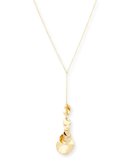 Ippolita 18K Gold Glamazon Disc Y-Pendant Necklace
