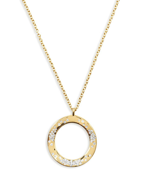 Ippolita 18K Glamazon Wavy Diamond Circle Necklace