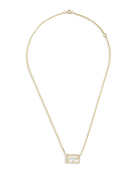 Ippolita 18K Rock Candy Mother-of-Pearl Rectangle Pendant