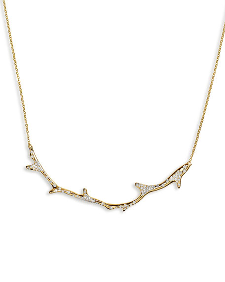 Ippolita 18K Glamazon Coral Branch Necklace with Diamonds