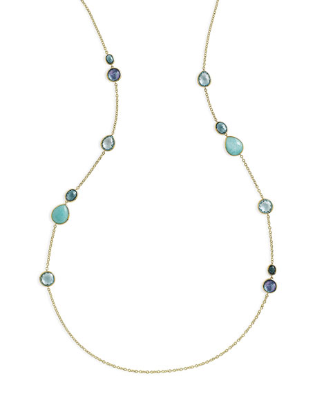 Ippolita 18K Rock Candy Gelato Hero Station Necklace
