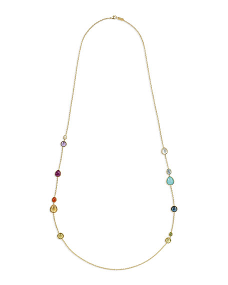 Scattered Station Necklace in Summer Rainbow