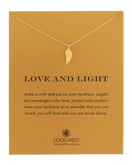 Dogeared Love and Light Angel Wing Pendant Necklace