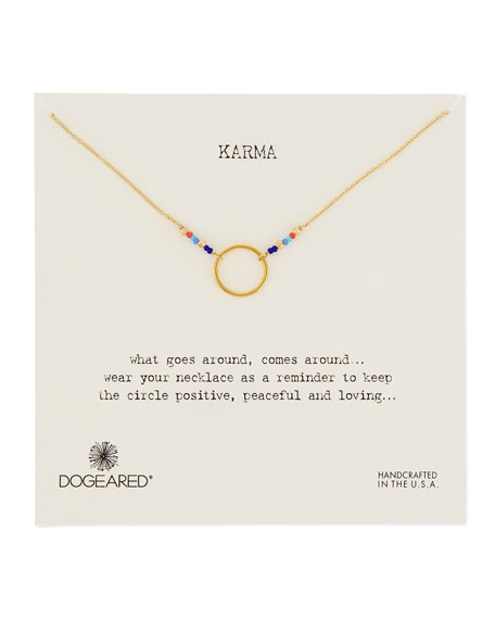 Dogeared Karma 14K Gold & Bead Necklace
