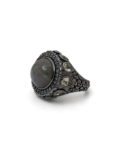 Round Labradorite Statement Ring