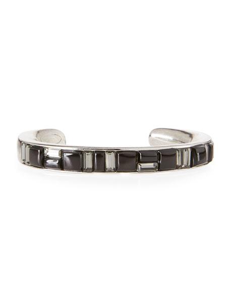 Oscar de la Renta Geometric Crystal Cuff Bracelet,