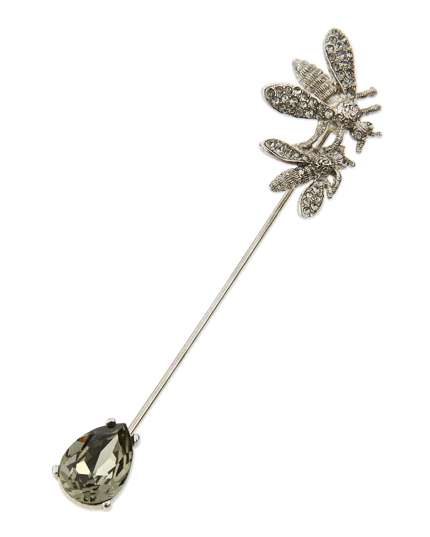 b8a75214683 Oscar de la Renta Pave Crystal Bee Pin