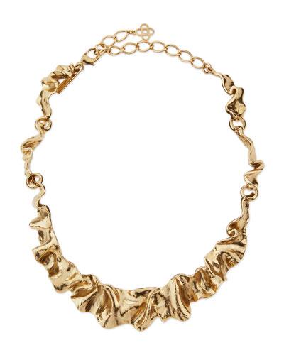 Flounced Ribbon Collar Necklace