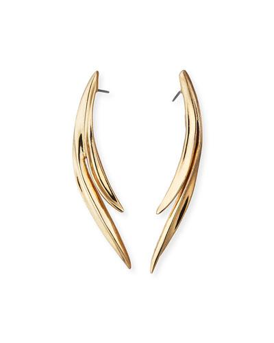 Golden Palm Leaf Earrings