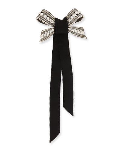 Crystal Bow Pin