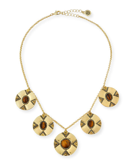House of Harlow Dorelia Coin Statement Necklace