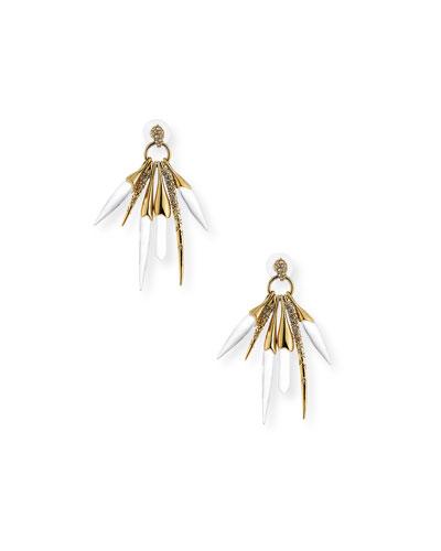 Rock Crystal Burst Post Earrings