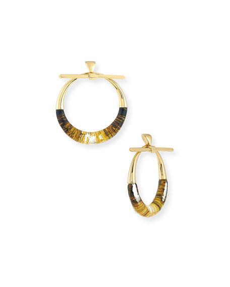 Alexis Bittar Pierced Liquid Hoop Drop Earrings