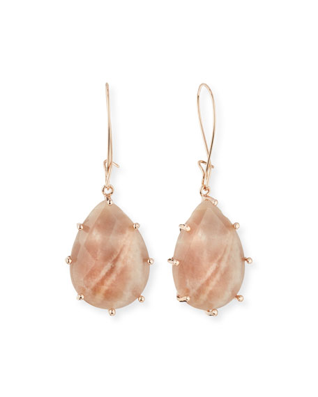 Pink Mother-of-Pearl Teardrop Earrings