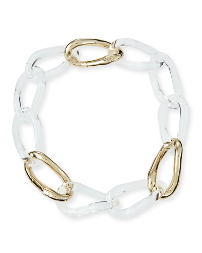 Convertible Lucite Link Necklace