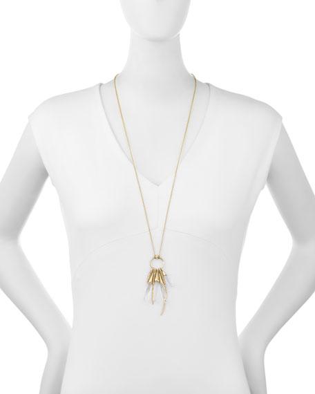"Rock Crystal Burst Pendant Necklace, 32"""