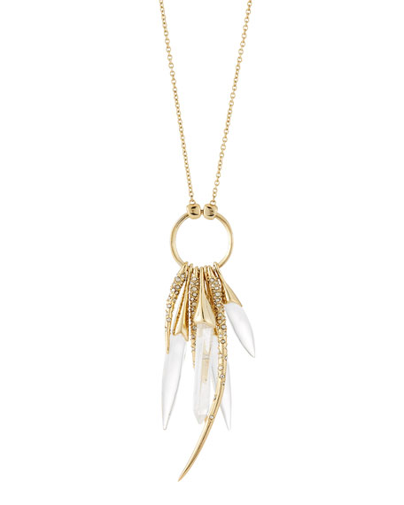 Alexis BittarRock Crystal Burst Pendant Necklace, 32