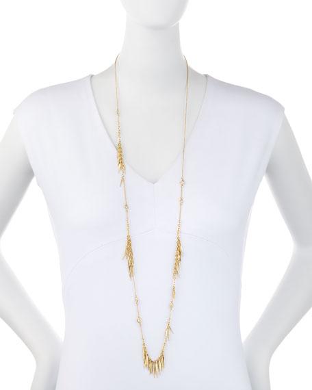 Long Spike Tassel Fringe Necklace