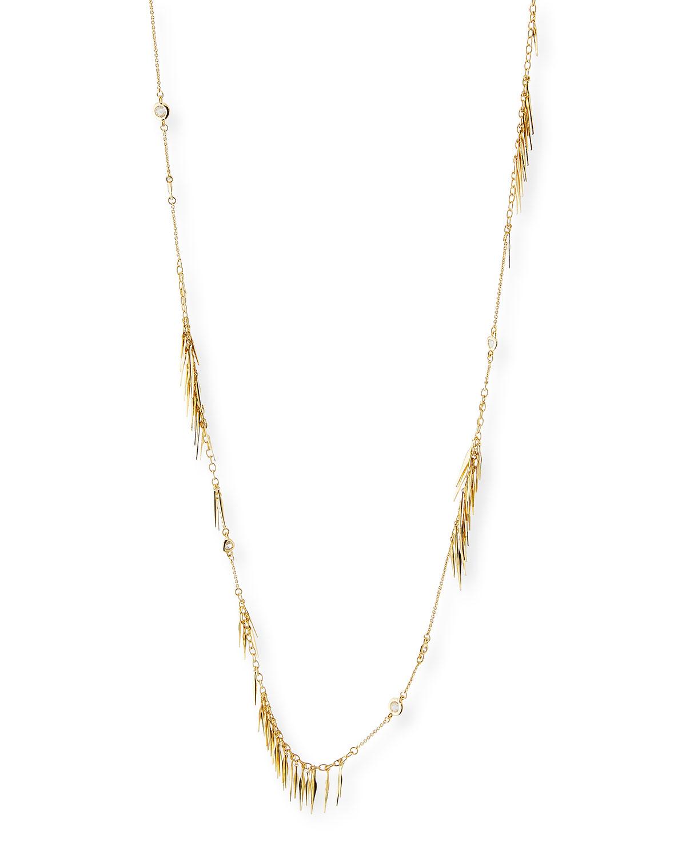 Alexis Bittar Long Spike Tassel Fringe Necklace 3zKQFa