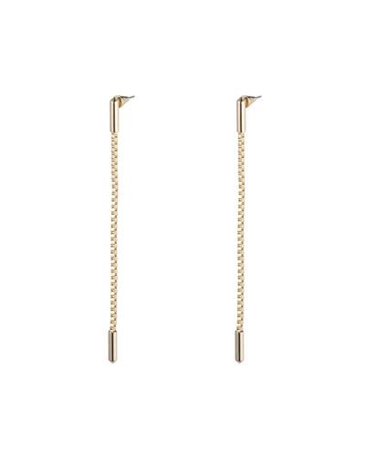 Idle Line Chain Drop Earrings