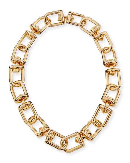 Eddie Borgo Fame Golden Link Necklace