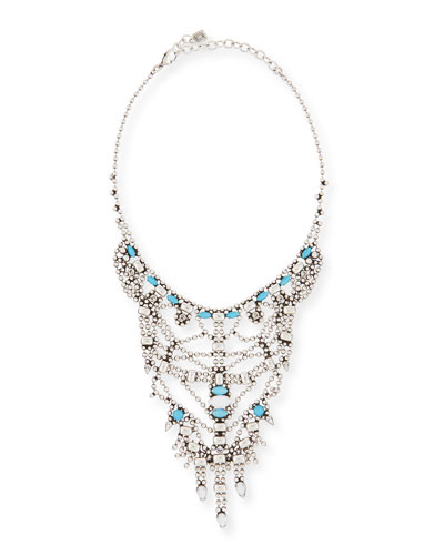 Malin Crystal Statement Necklace, Turquoise