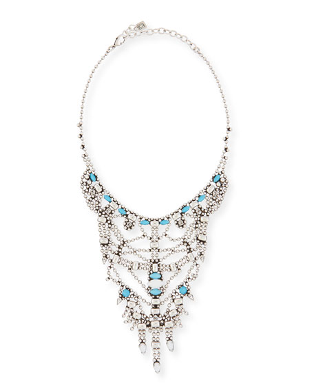 Dannijo Malin Crystal Statement Necklace, Turquoise
