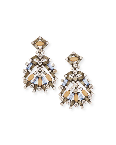 Bavaria Crystal Statement Earrings, Multi