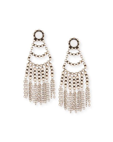 Dannijo Dolci Beaded Chandelier Earrings, White