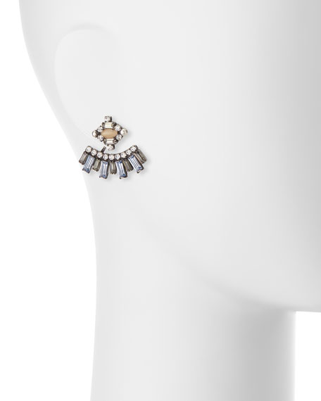 Sorrento Crystal Jacket Earrings, Multi