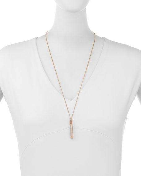 Mia Quadra Pavé Crystal Bar Necklace, Rose Gold