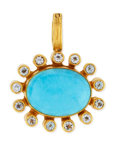 Turquoise Cabochon & Topaz Bezel Enhancer