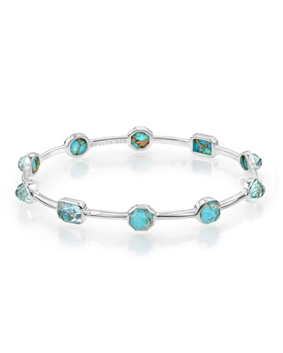 925 Rock Candy Bronze Turquoise Station Bangle