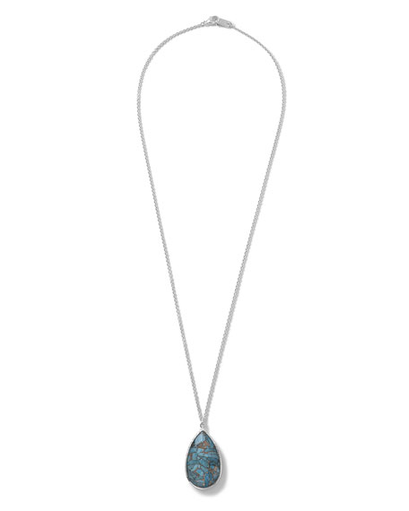 Ippolita 925 Rock Candy Turquoise Pear Pendant Necklace