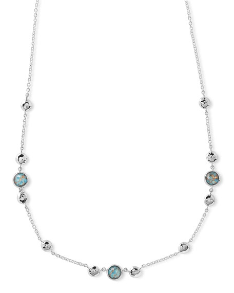 Ippolita925 Rock Candy Hammered Turquoise-Station Necklace