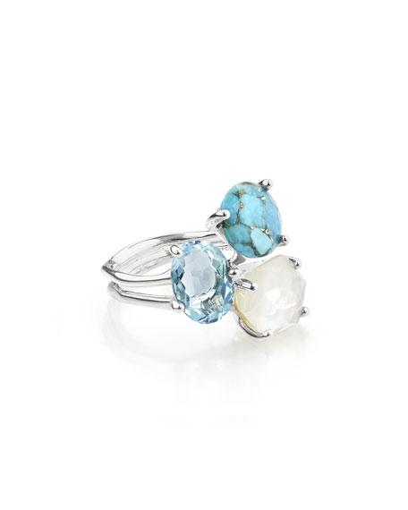 Ippolita 925 Rock Candy Three-Stone Ring in Harmony