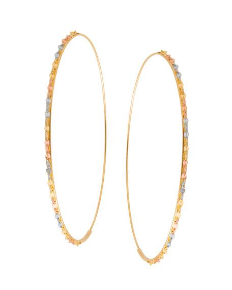 Lana Glam Large Three-Tone Hoop Earrings