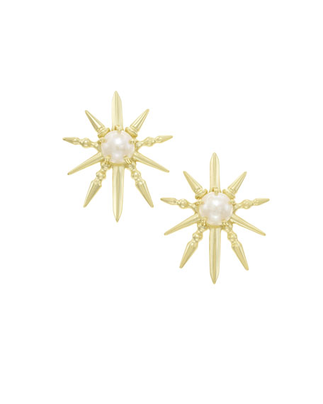 Rogan Pearly Sunburst Earrings