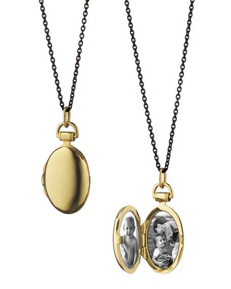 Monica Rich Kosann 18K Anna Locket Necklace