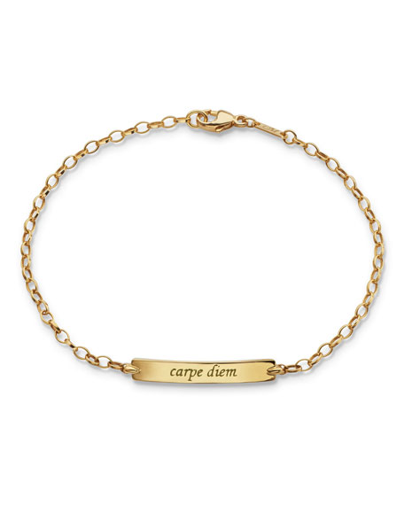 Monica Rich Kosann 18K Carpe Diem Poesy Small
