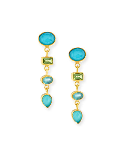 Multi-Stone Linear Drop Earrings