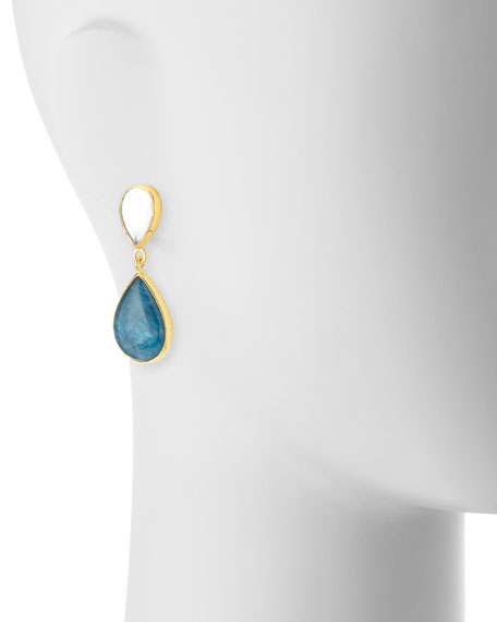 Apatite Doublet Teardrop Earrings