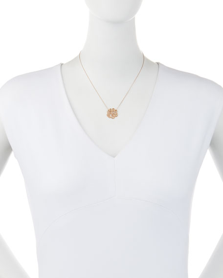 Small 14K Rose Gold & Diamond Lace Monogram Necklace