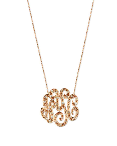 Ginette Lab Small 14K Rose Gold & Diamond