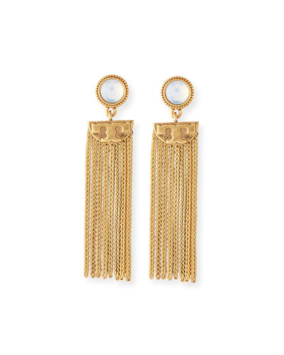 Coin Tassel Drop Earrings