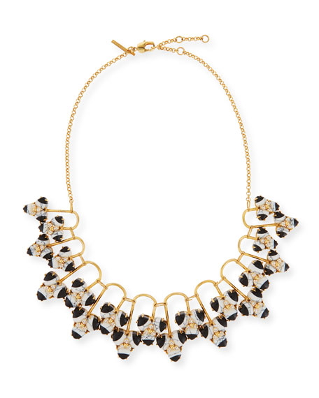 Striped Orchid Statement Necklace